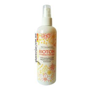 Олія бальзам для укріплення волосся Біотон GreenVisa фото